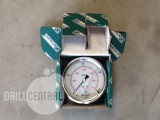 0-400 Bar 85mm, rear entry hydraulic console gauge - New
