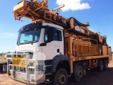 UDR 1200HC 2008 Drill Rig mounted on 2008 MAN 8x8