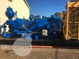 "2 x Ideco T500 7x8"" Triplex coupled with Caterpillar 379 engines on oilfield skid"