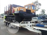 Tri axle Beavertail tag trailer (pintle hook) container pins hydraulic ramps