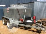 2000 litre baffled diesel polytank on a 2100 x 1500 tandem axle trailer atm 2500kg.
